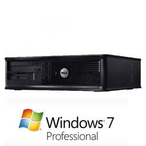 Calculator cu licenta Dell Optiplex 360 DT, E7400 2.80Ghz, 2GB, 160GB+Windows 7 Pro