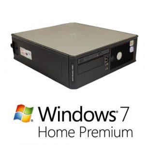 Calculator cu licenta Dell Optiplex 745 sff, E6300 1.86Ghz,2GB,160GB+Windows 7 Home
