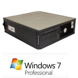 Calculator cu licenta Dell Optiplex 745 sff, E6300 1.86Ghz,2GB,160GB+Windows 7 Pro